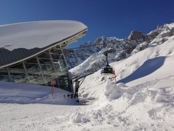 skyway, monte bianco, góry, dolina aosty, narty